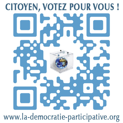 Campagne de communication QR code de La démocratie participative.